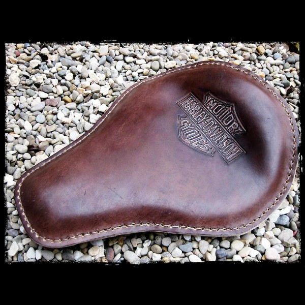 Seat Universal Harley Davidson Brown Leather