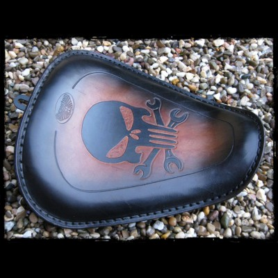 Selle  Sportster 2010 - Up Skull Brown
