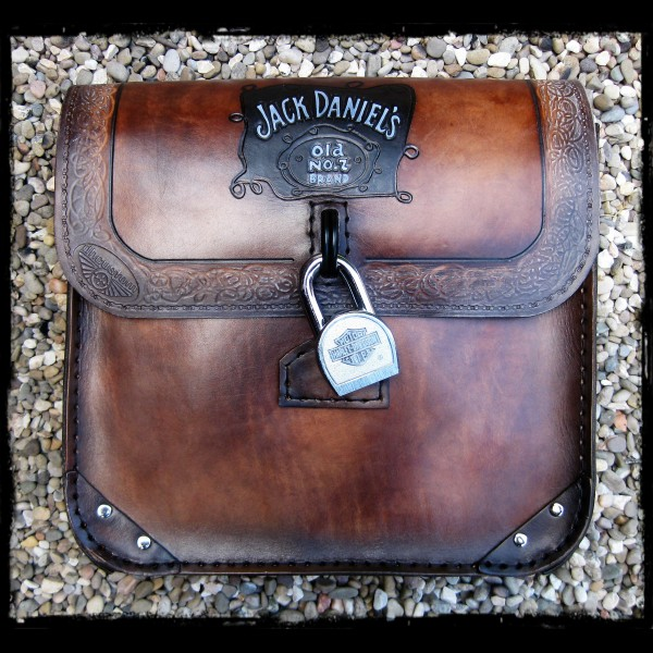 Jack Daniels leather saddlebag
