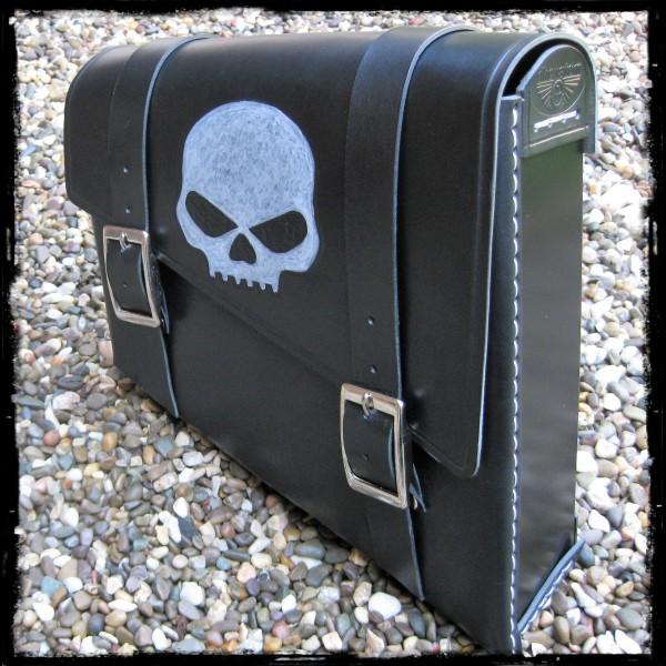 Satteltasche Skull Black
