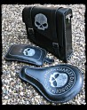 Saddlebag Skull Black