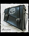 Satteltasche Skull Leather