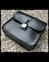 Saddlebag black leather