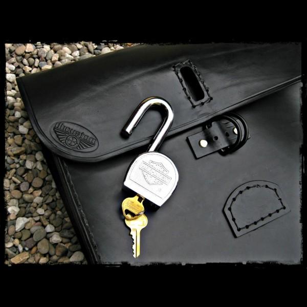 Saddlebag black leather